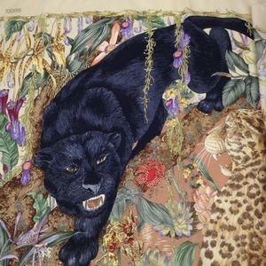 GUCCI Animal Print Silk Scarf